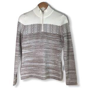 prAna Rosalia Women's Wool Blend Sweater Beige